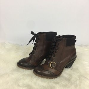 Anthropologie Schuler & Sons Leather Boots Size 37
